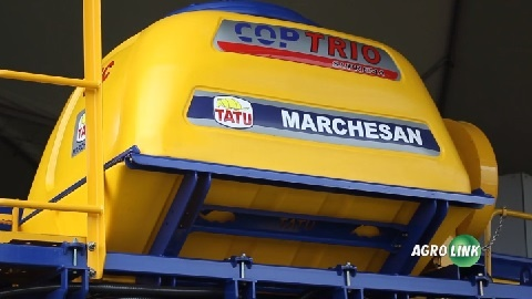 Tatu Marchesan traz linhas de plantadeiras na Expodireto