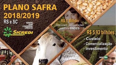 Sicredi disponibiliza R$ 6,93 bilhões para o Plano Safra 2018/19