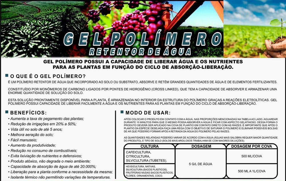 fe841cff4 HIDROGEL Gel para plantio de mudas em geral(polimero redutor e ...